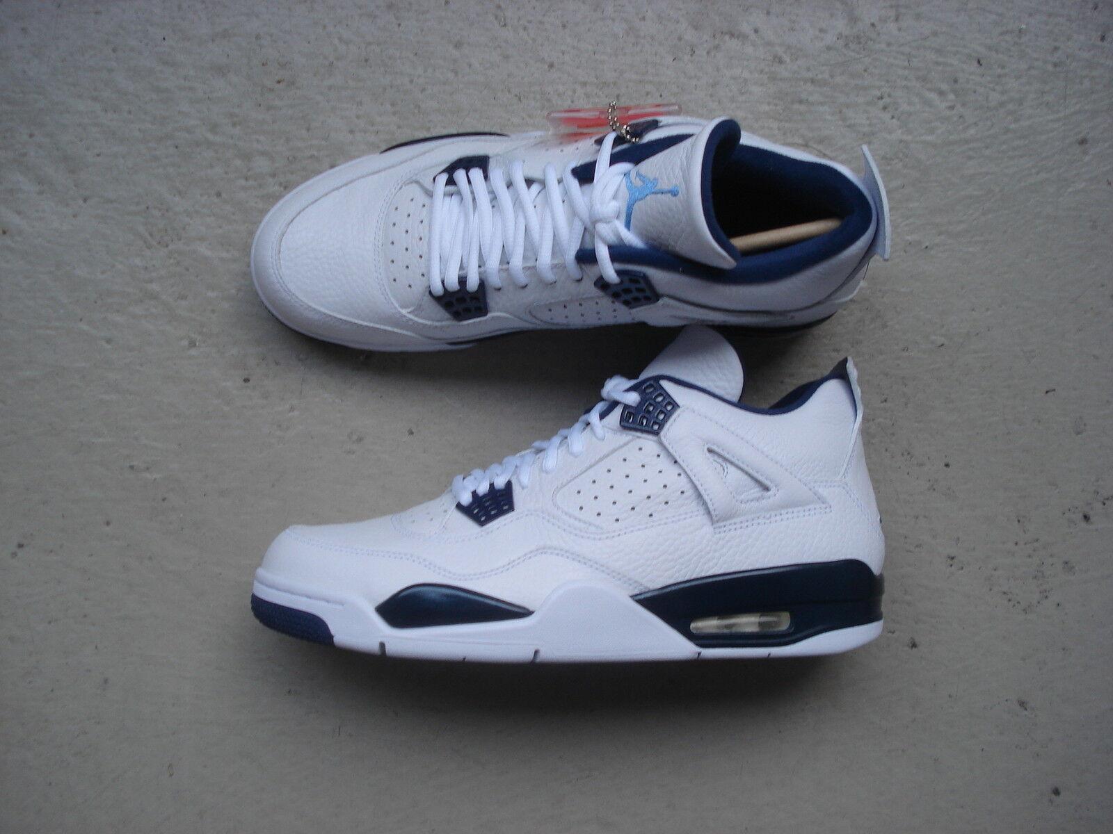 Nike Air Jordan 4/iv AzulMidnight retro ls 45.5 Blanco/Legend AzulMidnight 4/iv Navy 48e45c