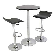 Pub Table Set 3 Piece With Stools Chairs Bistro Indoor Game Room Dorm Modern
