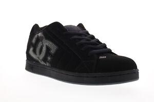 DC Net SE 302297 Mens Black Nubuck Leather Lace Up Athletic Skate Shoes