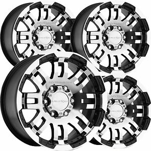 set 4 15 5 lug vision 375 warrior black machined 5x4 5 wheels ford Ford Escape image is loading set 4 15 034 5 lug vision 375