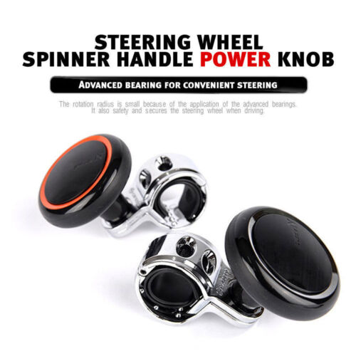 Steering Wheel Spinner Handle Power Knob 2 Color Type for All Universal Car