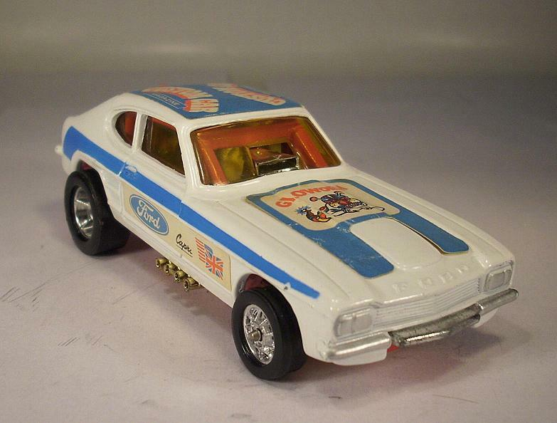 Corgi Toys Whizzwheels 163 FORD CAPRI GLOWORM SANTAPOD DRAGSTER