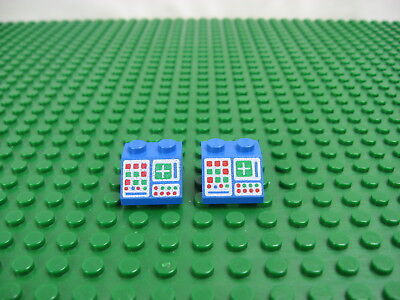 Lego Slope Brick 45° 2 x 2 Computer Panel Pattern in grey part no 3039p34