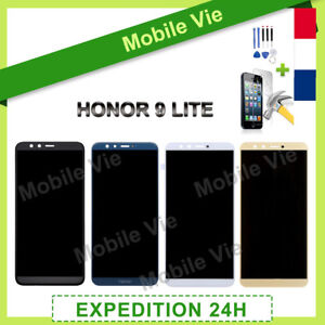 VITRE TACTILE+ECRAN LCD PRET-A-MONTE POUR HUAWEI HONOR 9 LITE NOIR/BLANC/OR/BLEU