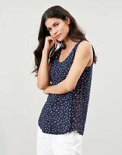 Joules Womens Sophie Print Jersey Vest - Blue Multi Spot