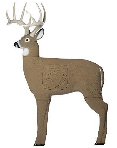 3D vida como Buck tiro Con Arco Target con núcleo de 4 lados reemplazable insertar Hecho en EE. UU.