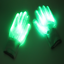 LED Luminous  Green Light Gloves Lights Outdoors Flash Gloves Clubs