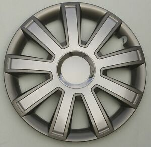 """Brand new grey/silver 14"""" wheel trims to fit  Vw POLO,LUPO,GOLF"""