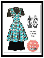1950s Apron Vintage Sewing Pattern