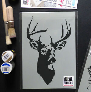 stag stencil deer stags head reusable Home Wall Decor Paint Ideal ...