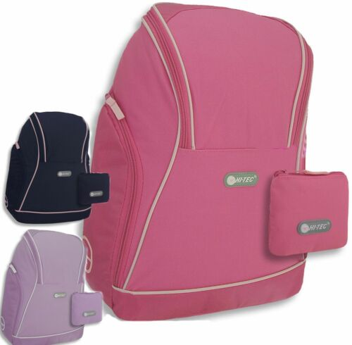 Girls Backpack Black Pink Lilac Blue Hi-Tec School Bag Gym Hand Luggage