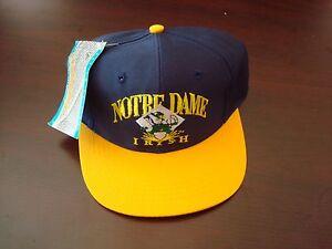 f0f1233961fc9 NOTRE DAME FIGHTING IRISH SMALL-MED SCRIPT NEW VINTAGE 90'S HAT CAP ...