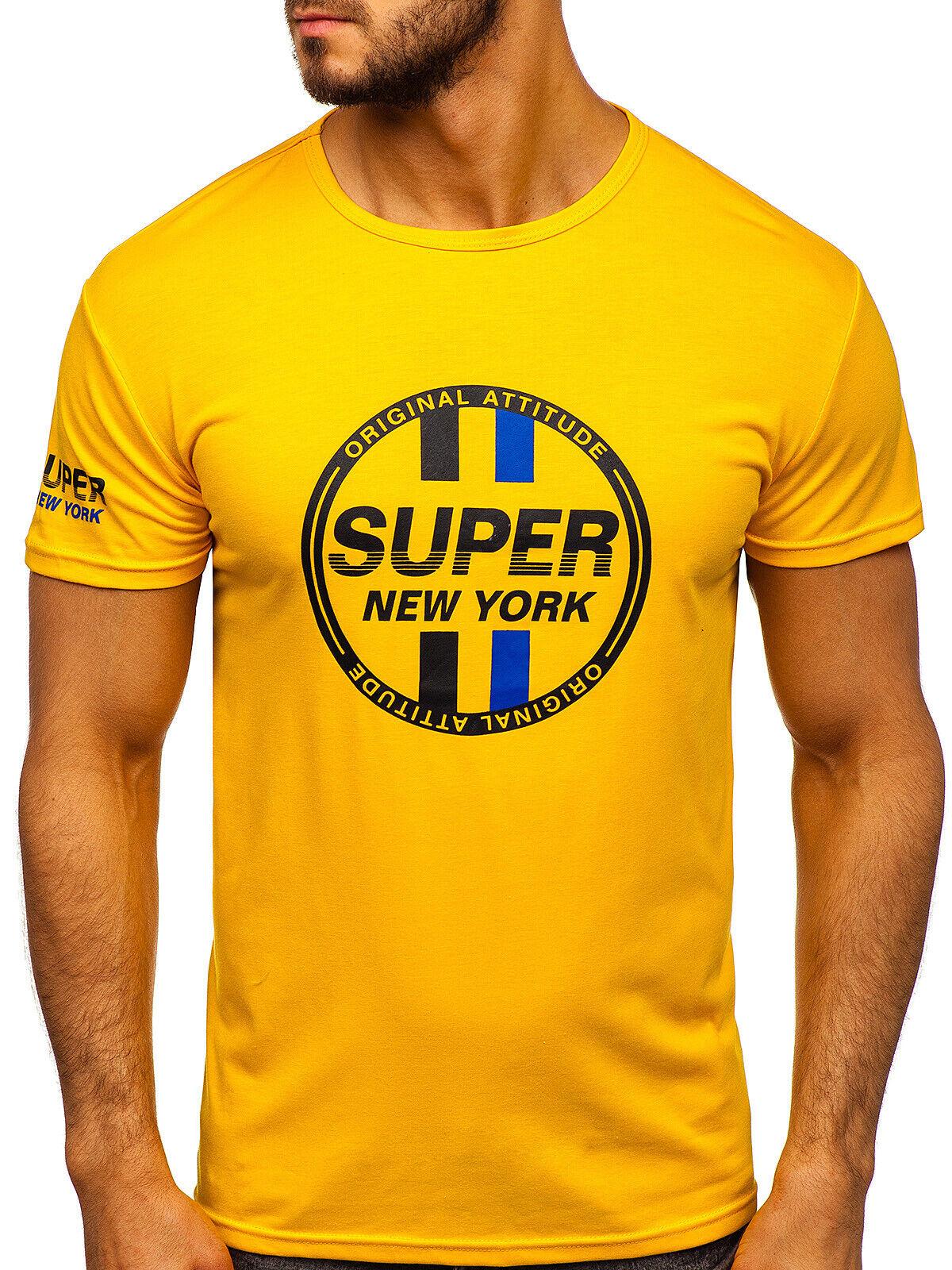 T-Shirt Tee Kurzarm Rundhals Classic Casual Aufdruck Motiv Herren BOLF Sport