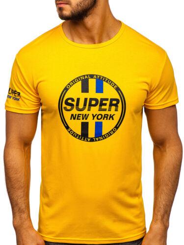 T-Shirt Tee Kurzarm Rundhals Casual Classic Print Aufdruck Herren BOLF 3C3 Motiv