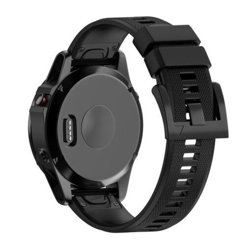Silicone Quick Install Band Easy Fit Wrist Strap For Garmin Fenix 3 5 5X Plus