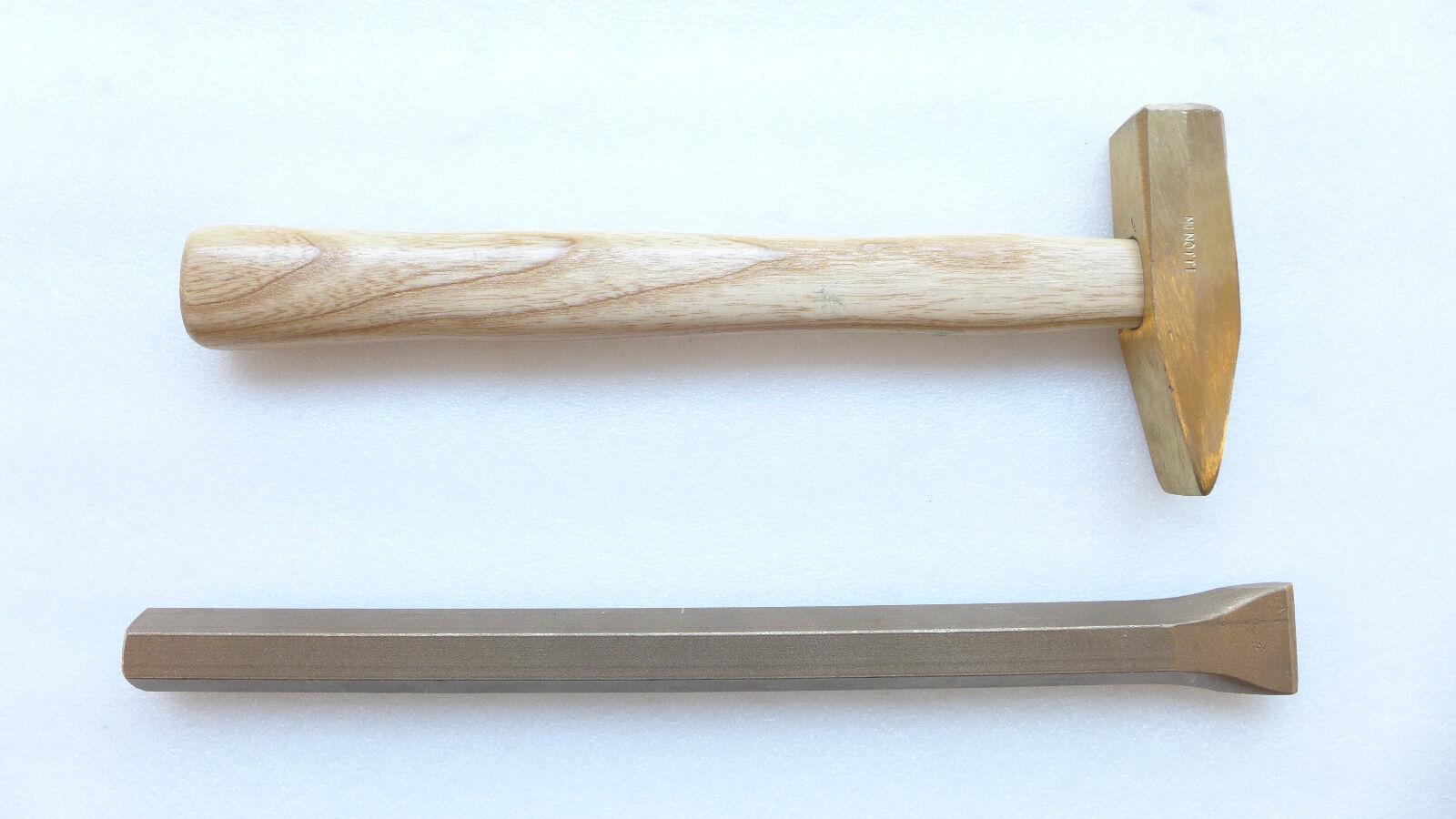 Utensili antiscintilla Martello + Scalpello metalminotti Leghe rame-berillio