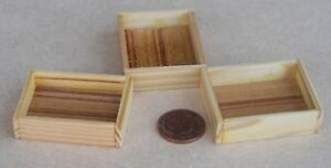 1-12-Scale-3-Large-Wooden-Tray-Box-Crate-Tumdee-Dolls-House-Shop-Accessory-E
