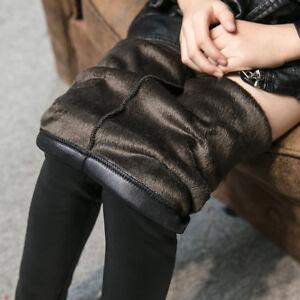 Kids-Girls-Winter-Thick-Warm-Leather-Leggings-Fleece-Lined-Pants-Trousers-2-10Y