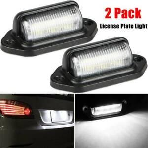 Numero-de-licencia-2PCS-Universal-LED-Placa-De-Iluminacion-Lamparas-Para-Camion-SUV-Camion-Remolque