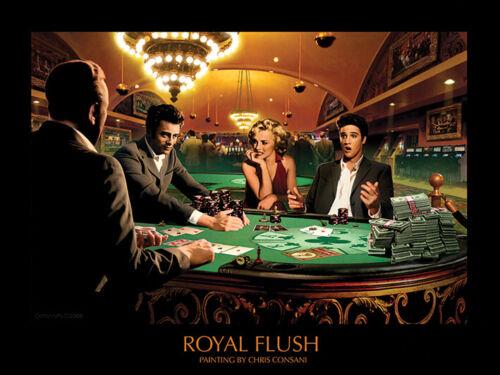 Royal Encastré Chris Consani Mat Revêtu Art Imprimé 60 X 80 cm Officielle