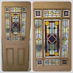 ... Brand-New-DOWNHAM-Stained-Glass-Internal-Door-White- & Brand New ) DOWNHAM Stained Glass Internal Door (White Oak) | eBay