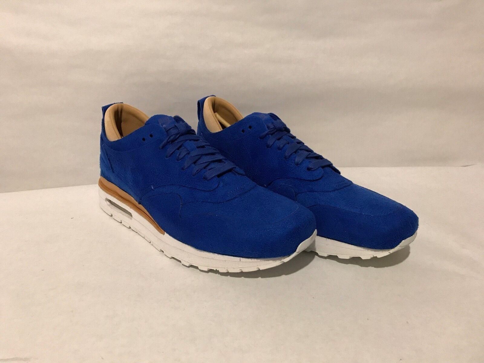 847671-441 Nike Air Max 1 Royal  bluee  Running Royal Summit Wht Size 9-11 No Top