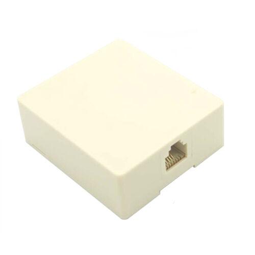 Eagle Modular Light Almond Surface Jack Telephone Data Surface Gold Plated 6P4C