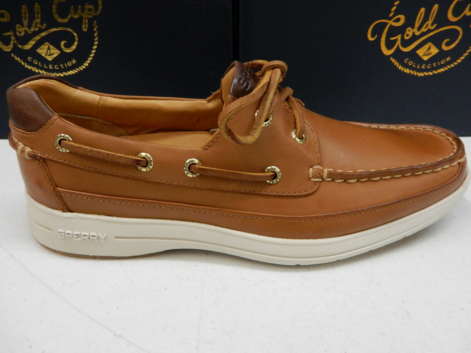 SPERRY GOLD TOP SIDER Uomo GOLD SPERRY CUP ULTRA BOAT 2-EYE ASV TAN SIZE 9.5 6f6aad