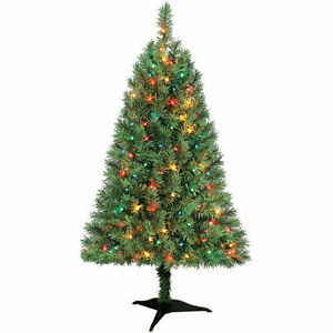 Indiana Spruce 4ft Artificial PreLit Multi Light Christmas ...