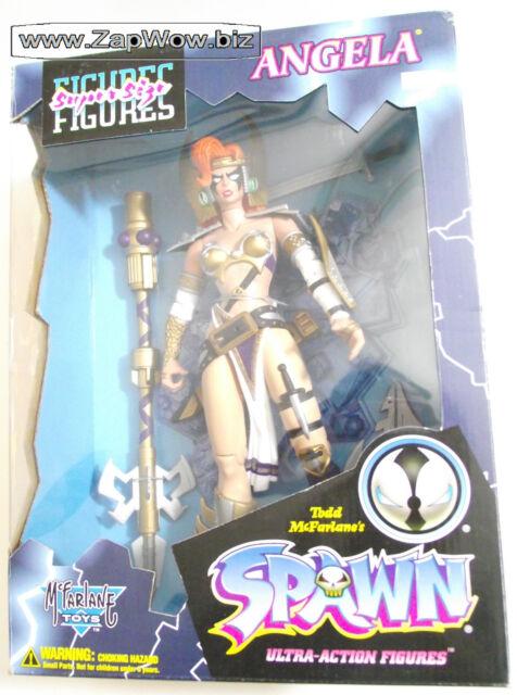 ANGELA 1990s Spawn Hunter 13''  SuperSize Action Figure McFarlane Gaiman Mint
