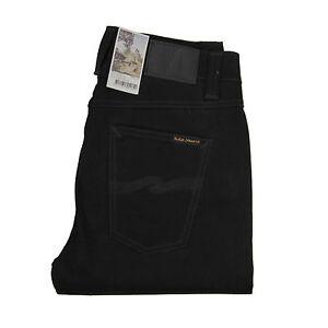 Nudie-Jeans-Brute-Knut-Dry-Cold-Black-Schwarz-Organic-Cotton-112078-Neu
