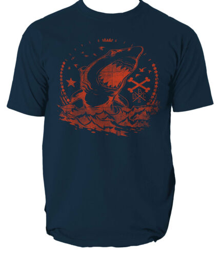 Shark vagues T shirt Tueur de pêche en mer S-3XL