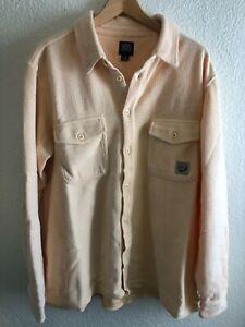 BDG Men's Vintage Wash Long Sleeve Fuzzy Pile Overshirt Shirt Size Large NEW