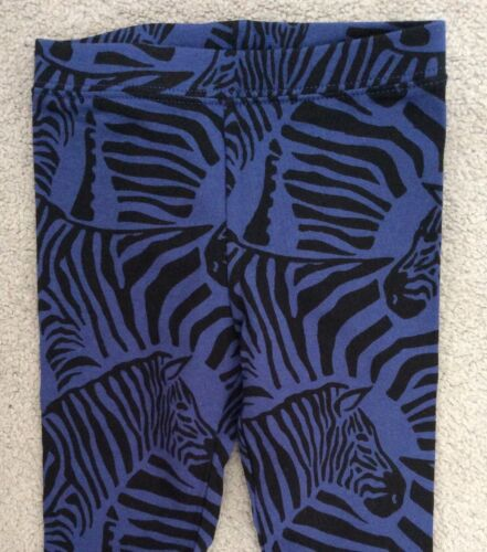2y BNWT Gap-Impreso Cebra Azul y Negro Calzas