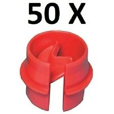 "*PREMIUM QUALITY* SET 50 PACK OF PLASTIC PUSH SNAP - IN ROMEX CONNECTOR 3/4"" KO"