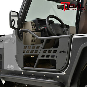 Tidal Military Tubular Door Left Right with Mirror Pair for 18-20 Jeep JL 4 Door
