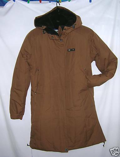 Girls BADBONES Dreamy Long Snowboard Coat Brown Lg 12 L