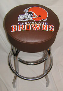 Awe Inspiring Details About Nfl Cleveland Browns Bar Stool Stools Free Shipping Bralicious Painted Fabric Chair Ideas Braliciousco