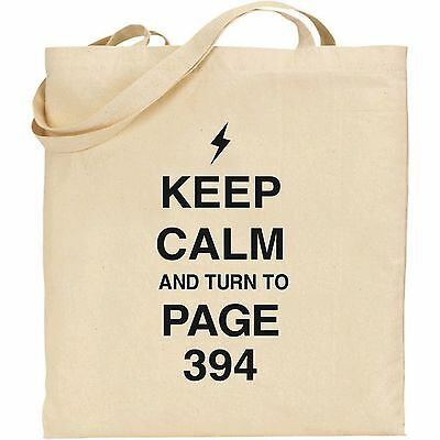 PROF SNAPE NATURAL COTTON TOTE HARRY POTTER KEEP CALM AND TURN TO PAGE 394