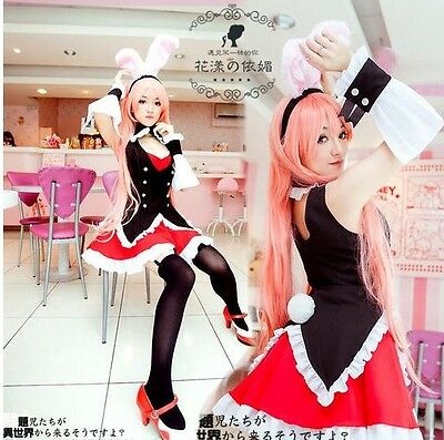 Problem Children are Coming from Another World,Black Rabbit Cosplay Costume+Wig