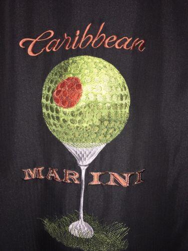 "RARE Caribbean Embroidered ""Caribbean Martini"" Cam"