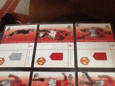 2001/02 Upper Deck Manchester United MATCH WORN SHIRT Set di 15 BECKHAM GIGGS + +