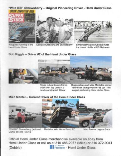 Hurst Hemi Under Glass T-Shirt Shifter Plymouth Barracuda Cuda Mopar NHRA