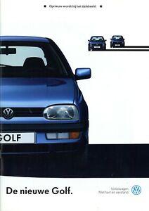 1-VW-Golf-Prospekt-NL-1991-8-91-dutch-brochure-prospectus-catalogue-catalogus