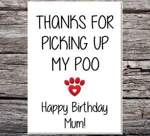 Drole-de-carte-du-chien-Joyeux-Anniversaire-Maman-merci-pour-ramasser-mon-Poo