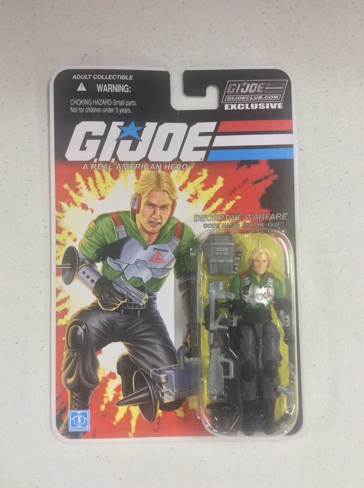 GI Joe Club Figure Subscription Service  FSS  3.0 Psyche-Out ~ Sealed