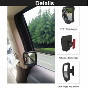 Car-Rear-Magnet-Mirror-270-Degrees-Wide-Angle-Rearview-Mirror-Tools-New