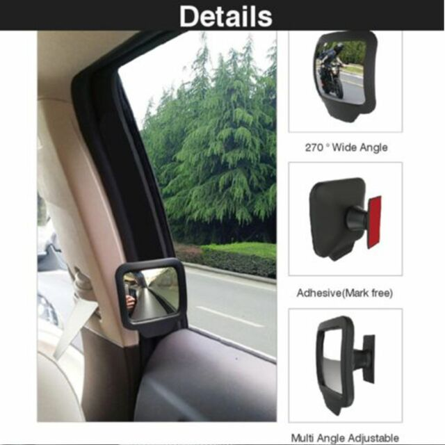 Car Rear Magnet Mirror 270 Degrees Wide Angle Rearview Mirror Tools New