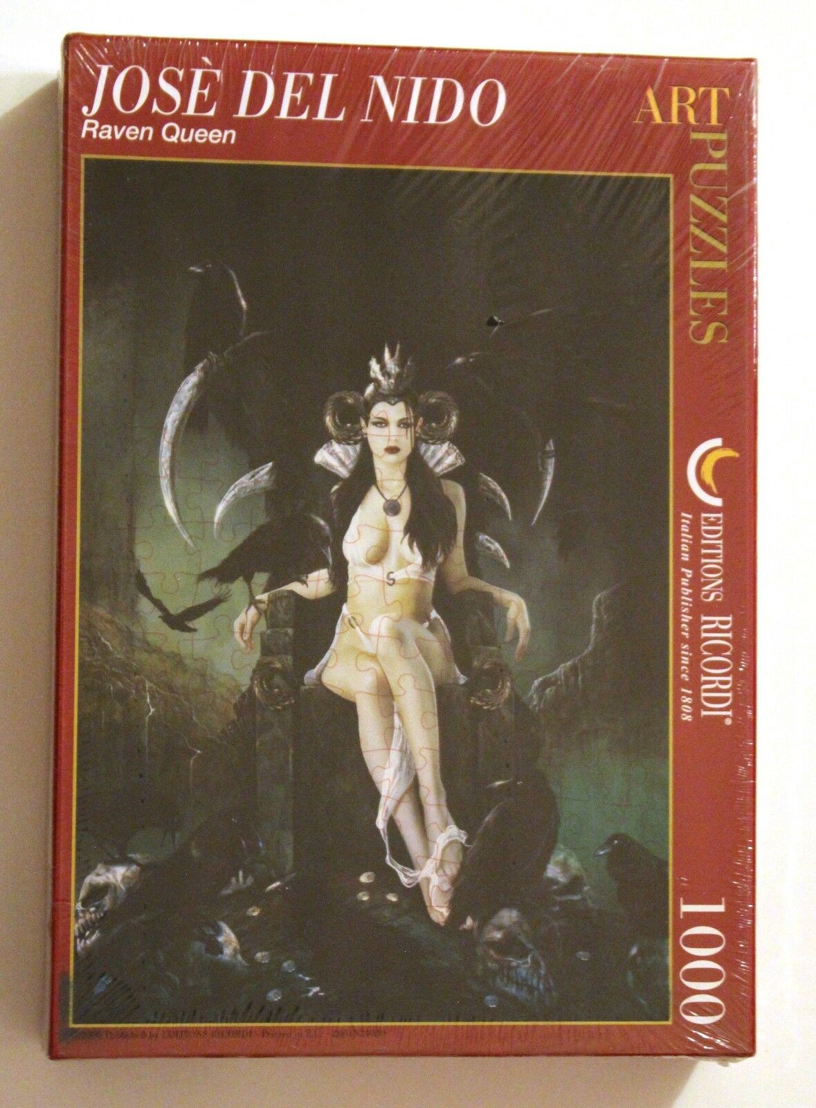 2010 ediziones  Ricordi RAVEN regina Puzzle JOSÉ DEL NIDO 1000 pcs SEALED & rare  vendite calde