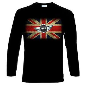 Mini Cooper Uk Flag Logo Cars Auto Men Long Sleeve T Shirt Ebay